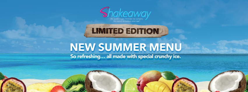 The new summer menu at ShakeAway