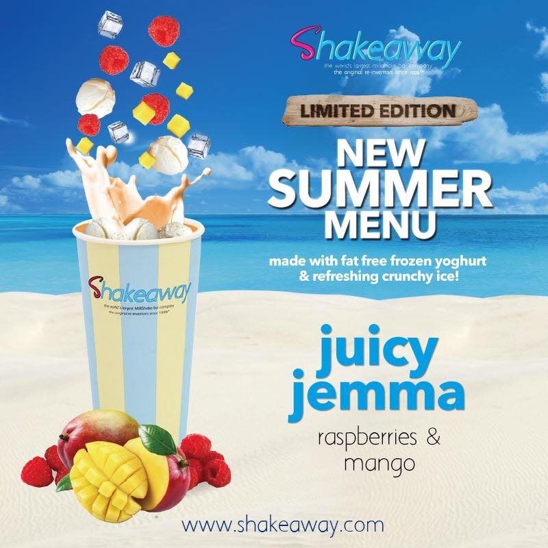 Get your hands on the limited edition 'Juicy Jemma' only at ShakeAway.